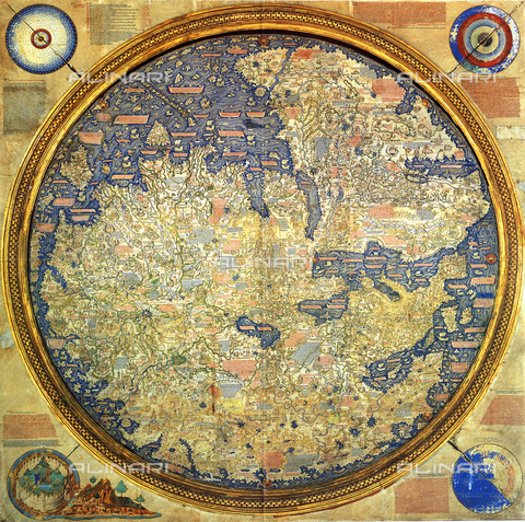 UIG-F-031108-0000 - Map of Fra Mauro (1460), Biblioteca Nazionale Marciana, Venice - UIG/Alinari Archives