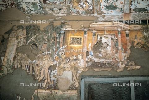 UIG-F-031112-0000 - History of Prince Visvantara, 5th century, fresco of the wall of cave 17 in Ajanta, Maharashtra - Prisma/UIG via Getty Images / UIG/Alinari Archives