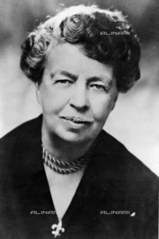 UIG-F-031127-0000 - Eleanor Roosevelt (1884-1962), wife of Franklin D. Roosevelt, President of the United Nations Commission on Human Rights in 1947-1951 and representative of the United States to the General Assembly in 1946 - UIG/Alinari Archives
