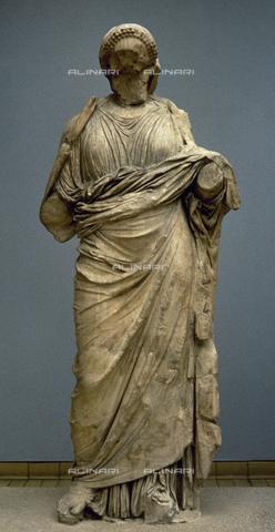 UIG-F-031130-0000 - Artemisia, statue from the Mausoleum of Halicarnassus or Tomb of Mausolus, satrap of the Persian empire, British Museum, London - UIG/Alinari Archives