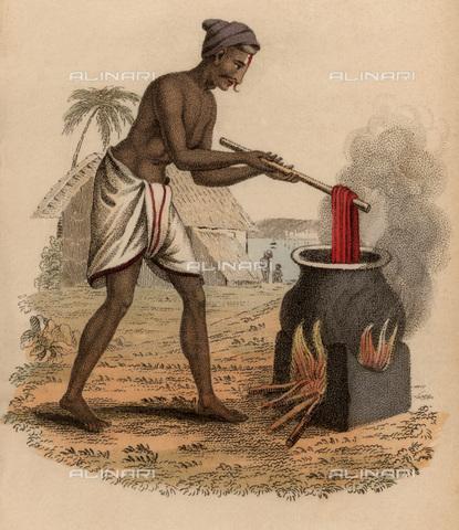 UIG-F-033620-0000 - Tintura della seta, incisione pubblicata da Rudolph Ackermann (1822) - UIG/Archivi Alinari