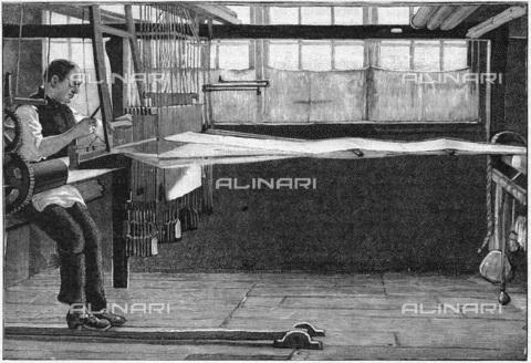 UIG-F-033621-0000 - Tessitore della seta a Bethnal Green, incisione (1893) - UIG/Archivi Alinari