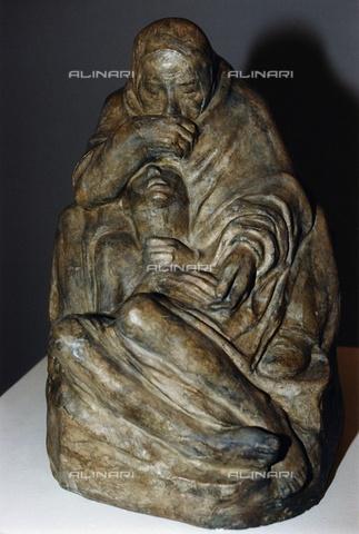 ULL-F-065735-0000 - Pietà, bronze, Kathe Kollwitz (1867-1945) - Zentralbild / Ullstein Bild / Alinari Archives