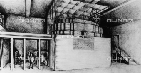 ULL-F-092674-0000 - Atomic Bomb: a drawing depicting the first controlled chain reaction in a nuclear reactor in an underground lab of the University of Chicago - dpa / Ullstein Bild / Alinari Archives