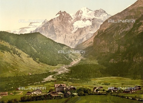 ULL-F-304487-0000 - View of Kandersteg and the Bluemlisalp mountain, Bernese Alps - Data dello scatto: 1900 ca. - histopics / Ullstein Bild / Alinari Archives