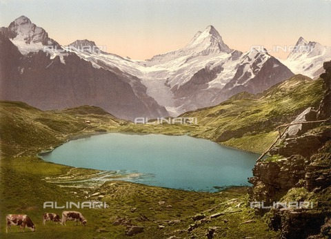ULL-F-305806-0000 - View of Lake Bachalp with Faulhorn and Schreckhorn, Bernese Alps - Data dello scatto: 01/01/1900 - histopics / Ullstein Bild / Alinari Archives
