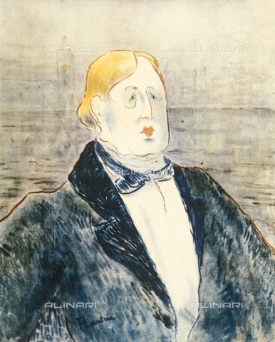 ULL-F-679116-0000 - Portrait of Oscar Wilde, watercolor, Henri de Toulouse-Lautrec (1864-1901), private collection - Archiv Gerstenberg / Ullstein Bild / Alinari Archives