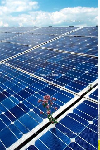 ULL-F-712387-0000 - Pannelli per la produzione di energia solare - Data dello scatto: ottobre 2003 - Oberhäuser/CARO / Ullstein Bild / Archivi Alinari