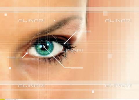 ULL-F-887373-0000 - Occhio femminile, modello astratto - Data dello scatto: 1 Gennaio 2006 - Insadco/Maciej / Ullstein Bild / Archivi Alinari