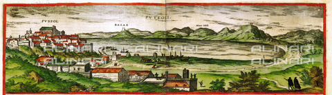 ULL-S-000103-8610 - View of Pozzuoli, illustrated by Civitatis Orbis Terrarum by Georg Braun and Franz Hogenberg, Vol. 2, 1575, engraving - histopics / Ullstein Bild / Alinari Archives