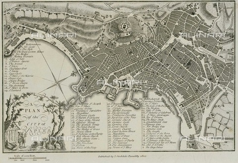 ULL-S-000104-2676 - Plant of the city of Naples, 1800 ca., John Stockdale (1750 - 1814) - histopics / Ullstein Bild / Alinari Archives