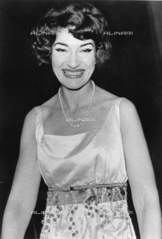 ULL-S-000107-0822 - Portrait of the soprano Maria Callas (1923-1977) on the occasion of the concert at the Titania-Palast in Berlin - Data dello scatto: 10/1959 - Ullstein Bild / Alinari Archives