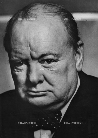 ULL-S-000110-1117 - The British Prime Minister Winston Churchill (1874-1965) - Data dello scatto: 1955 - Ullstein Bild / Alinari Archives