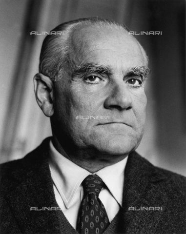 ULL-S-000165-2750 - The Italian writer Alberto Moravia (1907-1990) - Data dello scatto: 1990 - Fondation Horst Tappe / Ullstein Bild / Alinari Archives