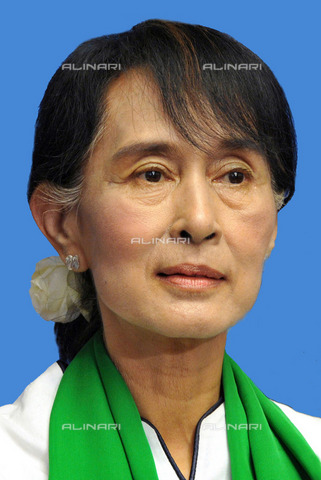 ULL-S-000176-3626 - Aung San Suu Kyi (1945-), winner of the Nobel Peace Prize - Ullstein Bild / Alinari Archives