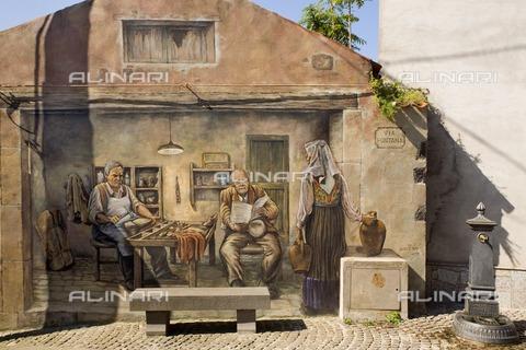 ULL-S-000258-5666 - Mural painted on a Tinnura building in Sardinia - Raimund Franken / Ullstein Bild / Alinari Archives