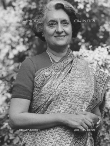 ULL-S-000297-5608 - Indira Gandhi (1917-1984), Indian Prime Minister - Data dello scatto: 1979 - Financial Times / Ullstein Bild / Alinari Archives