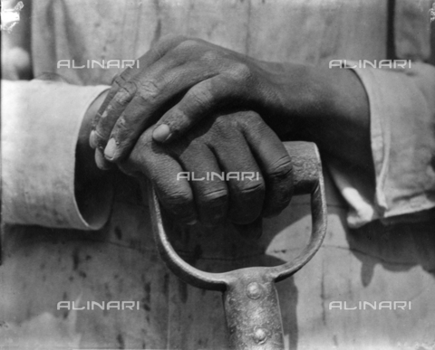 ULL-S-000509-9109 - Hands of a Construction Worker - Data dello scatto: 1926 - Tina Modotti / LEONE / Ullstein Bild / Alinari Archives