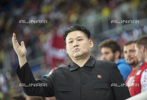 ULL-S-101263-2466 - Kim Jong Un, leader of Korea's Democratic People's Party (North Korea), during the Summer Olympics in Rio de Janeiro - Data dello scatto: 18/08/2016 - Sven Simon / Ullstein Bild / Alinari Archives