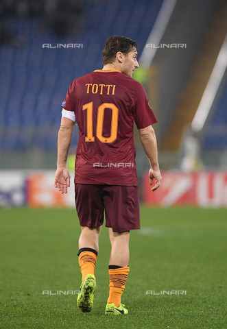 ULL-S-101405-6832 - Roma captain Francesco Totti during the football match against Villarreal in the Europa Leaugue championship - Data dello scatto: 23/02/2017 - Pressefoto Ulmer / Ullstein Bild / Alinari Archives