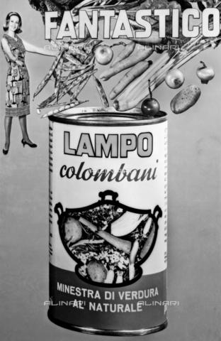 VBA-S-004458-0005 - Il manifesto pubblicitario della Minestra al Naturale Lampo della ditta Colombani - Data dello scatto: 1960 ca. - Archivi Alinari, Firenze