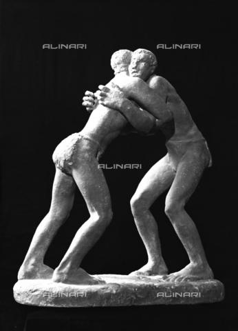 VBA-S-A00107-0005 - I lottatori: bozzetto dello scultore Luciano Minguzzi - Archivi Alinari, Firenze