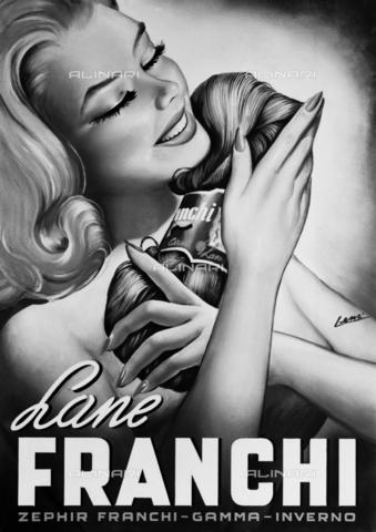 VBA-S-A07108-0014 - Cartellone pubblicitario della ditta Franchi, produttrice di lana - Data dello scatto: 1960 ca. - Archivi Alinari, Firenze