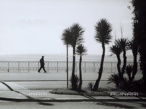 VZA-F-000232-0000 - Lungomare con uomo che cammina - Data dello scatto: 1950-1960 ca. - Raccolte Museali Fratelli Alinari (RMFA)-archivio Vannucci Zauli, Firenze