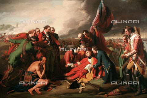 WHA-F-126535-0000 - The death of General Wolfe, oil on canvas, West, Benjamin (1738-1820), National Gallery of Canada, Ottawa - World History Archive/Alinari Archives