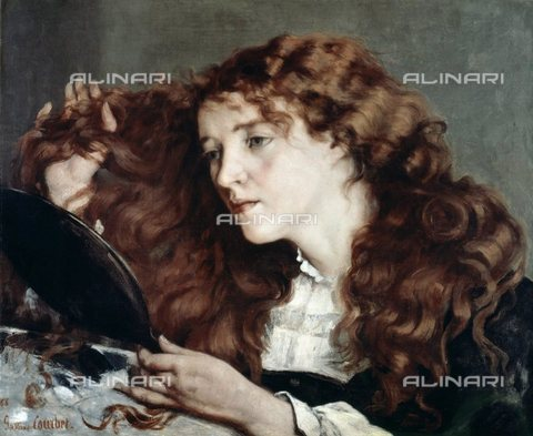 WHA-S-051000-1816 - The beautiful Irish, oil on canvas, Gustave Courbet (1819-1877), Nationalmuseum, Stockholm - World History Archive/Alinari Archives