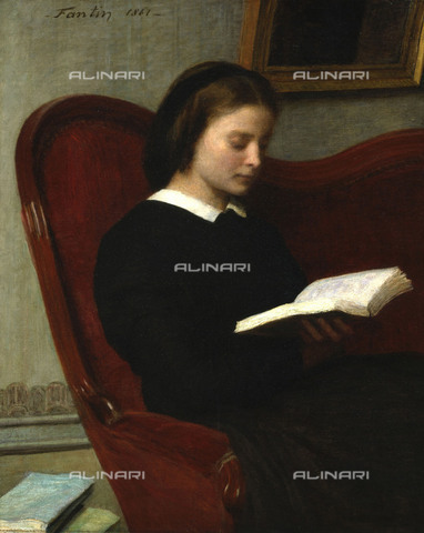 WHA-S-051000-1830 - The reader, oil on canvas, Fantin-Latour, Henri (1836-1904), Musée d'Orsay, Paris - World History Archive/Alinari Archives