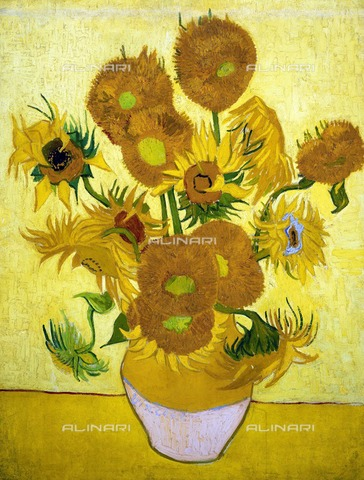 WHA-S-0WHA10-39PC - Sunflowers, oil on canvas, Vincent van Gogh (1853-1890), Van Gogh Museum, Amsterdam - World History Archive/Alinari Archives