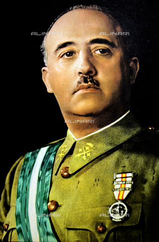 WHA-S-WHA032-0001 - Portrait of Spanish General Francisco Franco (1892-1975) also known as Generalísimo Franco or Caudillo de España - Data dello scatto: 1939 - World History Archive/Alinari Archives