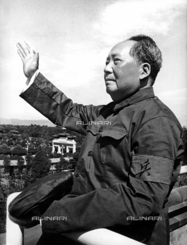 WHA-S-WHA041-0420 - Mao Zedong or Mao Tse-Tung About (December 26, 1893  September 9, 1976), Chinese communist revolutionary and a founding father of the People's Republic of China - World History Archive/Alinari Archives