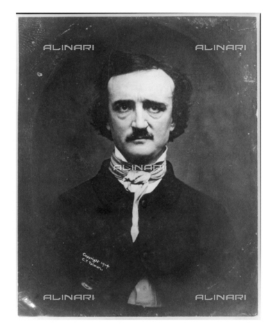 WHA-S-WHA041-0471 - Edgar Allan Poe c1904. Edgar Allan Poe (born Edgar Poe; January 19, 1809  October 7, 1849) was an American author, poet, editor, and literary critic - World History Archive/Archivi Alinari