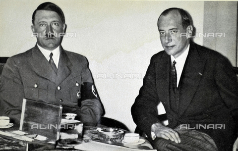 WHA-S-WHA041-0669 - Adolf Hitler 1889-1945. German politician and Józef Beck (1894  1944) Polish foreign minister in the 1930s - World History Archive/Archivi Alinari