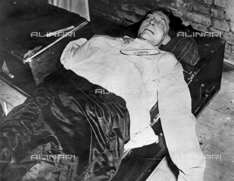 WHA-S-WHA041-0694 - Death of Hermann Goering, wartime Nazi leader and air force commander who committed suicide during the war crimes trials at Nuremberg in 1946 - World History Archive/Archivi Alinari