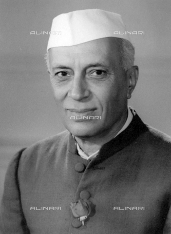 WHA-S-WHA041-0992 - Jawaharlal Nehru 14 November 1889  27 May 1964. first Prime Minister of India (1947-1964), and a central figure in Indian politics for much of the 20th century. - World History Archive/Alinari Archives