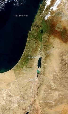 WHA-S-WHA059-0077 - Satellite image of Israel in January 2003 - Data dello scatto: 2003 - World History Archive/Alinari Archives