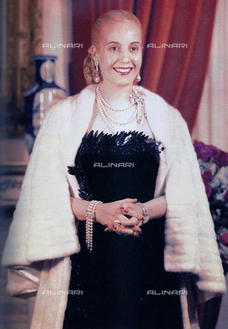 WHA-S-WHA061-0821 - Portrait of Maràa Eva Duarte de Perà³n (1919-1952) - World History Archive/Alinari Archives
