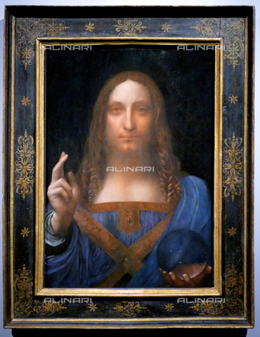 WHA-S-WHA114-0945 - Salvator Mundi, oil on canvas, Leonardo da Vinci (1452-1519) (attr.), Private Collection, Abu Dhabi - World History Archive/Alinari Archives