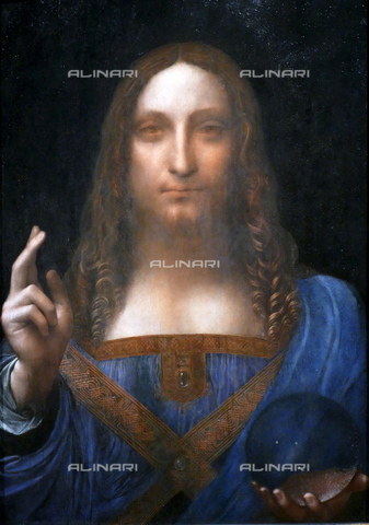WHA-S-WHA114-0948 - Salvator Mundi, oil on canvas, Leonardo da Vinci (1452-1519) (attr.), Private Collection, Abu Dhabi - World History Archive/Alinari Archives