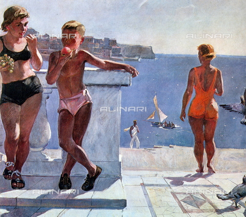 WHA-S-WHA131-0058 - In Sevastopol, oil on canvas, Aleksandr Deyneka (1899-1969) - World History Archive/Alinari Archives