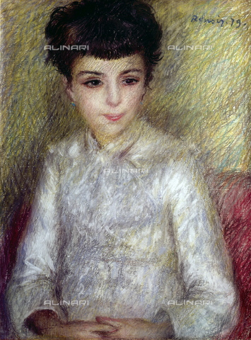 WHA-S-WHA131-0125 - Portrait of a child, oil on canvas, Pierre Auguste Renoir (1841-1919), Musée d'Orsay, Paris - World History Archive/Alinari Archives