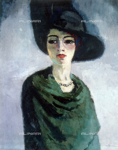 WHA-S-WHA131-0773 - Woman with black hat, Dongen, Kees van (1877-1968), Hermitage Museum, St. Petersburg - World History Archive/Alinari Archives