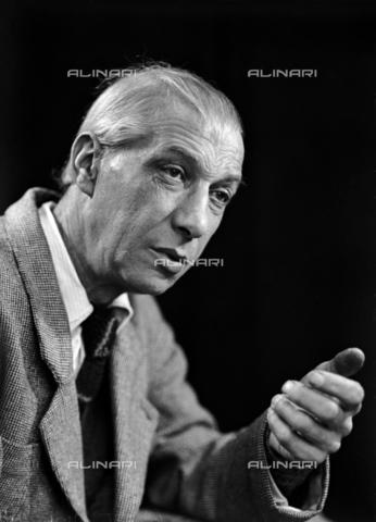 WMA-F-007014-0000 - Ritratto del poeta triestino Virgilio Giotti - Data dello scatto: 1945 - Archivi Alinari, Firenze