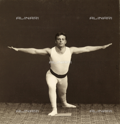 WSA-F-001746-0000 - Portrait of a young gymnast as he performs an exercise