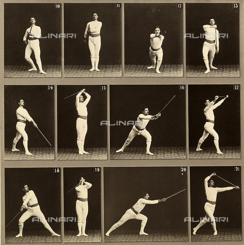"WSA-F-001748-0000 - ""Jager Exercises"". A series of physical exercises using a staff"