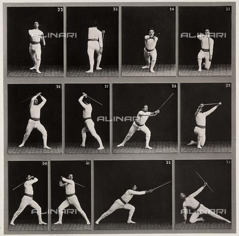 "WSA-F-001749-0000 - ""Jager Exercises"". A succession of physical exercises using a staff"