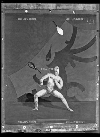 WWA-F-001909-0000 - Painting by Marcello Claris representing a juggler - Data dello scatto: 1930 ca - Archivi Alinari, Firenze